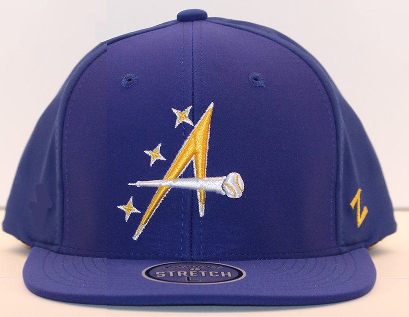 (787) Houston Apollos 2013 Zephyr Royal Blue Fitted Hat  25.00 The Houston  Apollos members of Pecos Spring League have released their 2013 hats. 7ecc6301b74